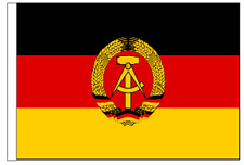 East Germany GDR 1959 to 1990 Sleeved Courtesy Flag ideal for Boats 45cm x 30cm