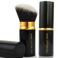Retractable Kabuki Blush Foundation Powder Cosmetic Makeup Brush Kit