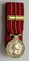 Canada CD Canadian Decoration Mini Medal Court Mounting + Bar