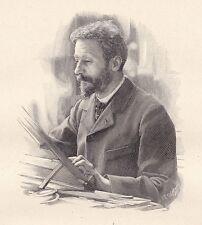 Portrait Maurice Leloir Peintre Peinture Aquarelle Illustrateur Héloïse Colin