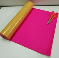 Three Mtr's x 450mm wide roll of PINK STICKY BACK SELF ADHESIVE FELT / BAIZE