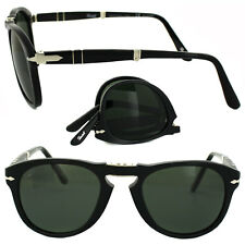 d4ef8d939c New Persol Folding Sunglasses PO0714 95 58 Polished Black w Green Polarize  54mm