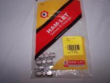 HAM-LET 762L-SS-1/8 UNION 1/8 TUBE STAINLESS NEW LOT OF 4