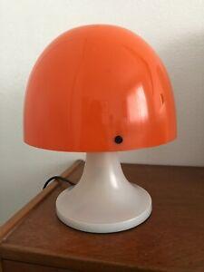 Retro Vintage Italian Orange Plastic Mushroom Lamp Kartell Guzzini Space Age