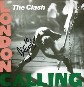 "Mick JONES The Clash SIGNED London Calling Album Cover 12""x12"" Photo AFTAL COA"