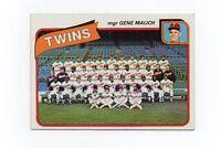1980 Topps Minnesota Twins Team Set
