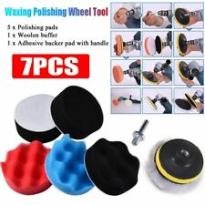 Auto Car Polishing Wheel Kit Buffer Wi… 7pcs 8Cm Polishing Buffing Pad Kit for