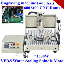 CNC 6040 1.5KW 4 axis CNC router CNC Wood Metal carving machine Mach3 control