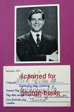 DICK KALLMAN - AUTOGRAPH - 1963 - BATMAN - HOW TO SUCCEED - MURDERED AT 46