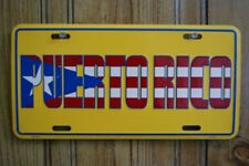 "Puerto Rico Yellow 6""x12"" Aluminum License Plate Sign"