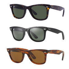 Ray-Ban 2140 Original Wayfarer Unisex Sunglasses - Green Classic G-15 / Black