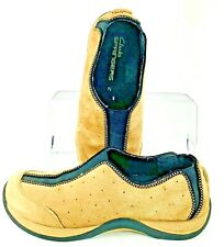 Clarks Springers Walking Loafer Women's Sz 7.5 M Brown Elastic Gore Slip On Shoe