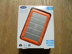 Lacie Rugged Triple 1TB External Hard Drive with USB3 and Firewire 800 Ports