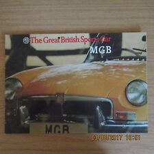 MG (British Leyland) MGB The Great British Sports Car Sales Brochure 1972-1974