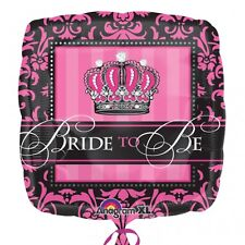 """18IC:CROWNED BRIDE TO BE FOIL BALLOON - 18""""/45CM"""