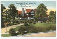 VTG Residence of Robert Jamison Jr. Mountain Terrace Birmingham, Ala  Postcard