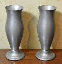 New listing International Pewter Pair of Vases Williamsburg Style
