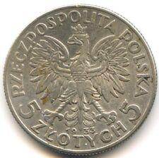 Pologne République 5 Zlotych argent 1933 KM 21