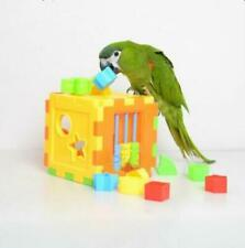 Parrot Puzzle Toy Bird Training Cage Educational Budgie Birds Parakeet Cockatiel