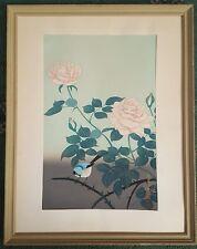 Ohno Bakufu 1888–1976 Original signed ukiyo-e Woodblock Red Rose Variant 2