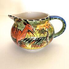 New ListingPenzo Zimbabwe, Pottery, Ceramic, Hand Painted, Creamer Ceramic Saucer Deer