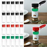 10 Plastic Salt Pepper Seasoning Jars Condiment Bottles Cruet Container 100ml
