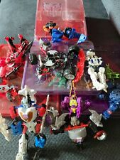 Vintage Transformers Lot, Over 20 Pieces with Storage Containers