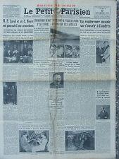 """Le Petit Parisien (9 déc 1935) Hydravion """"Lt de vaisseau Paris""""- Affaire Nombela"""