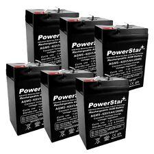 PowerStar 6 Pack - 6V 5Ah Sla Battery for Emergency Exit Lighting