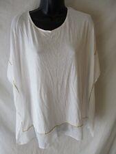 JLO Rayon Size XS White Knit Embellished Blouse SR$48 NEW Clubwear