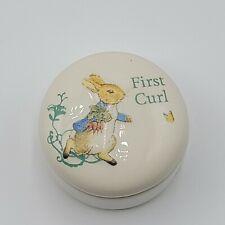 Beatrix Potter Peter Rabbit First Curl Trinket Box
