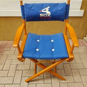 Vintage 1980's World Famous Telescope Chicago White Sox Directors Chair Blue