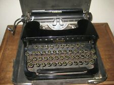 Antique CORONA Sterling / Portable Typewriter / With Case / SN #1A23352