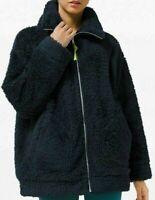 Womens Lululemon Oh So Sherpa Jacket Coat True Navy Blue Size 8  LW3EEES