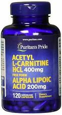Puritans Pride Acetyl L-carnitine 400 Mg with Alpha Lipoic Acid, 200 Mg,...