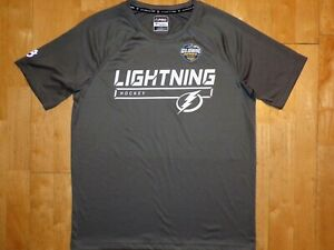 NEW Mens TAMPA BAY LIGHTNING Hockey AUTHENTIC PRO Large L Shirt GLOBAL SERIES