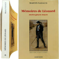 Mémoires de Léonard ancien garçon maçon 1998 Martin Nadaud Agulhon Creuse