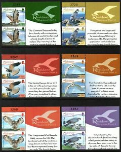 Alderney Stamps 2008 SG A336-A341 Resident Birds (3rd Series) Pairs Mint MNH