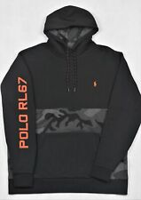 Polo Ralph Lauren Hoodie Camo Camouflage Black Sweatshirt 4XB 4X Big Tall NWT