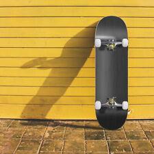Black Skateboard Blank Complete Skate Board New Deck 4 Wheels Beginners