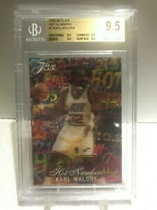 1995-96 Flair Hot Numbers Karl Malone #7/15 (BGS 9.5)
