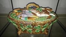 Impressive Antique Minton Majolica Hare & Mallard Game Pie Tureen & Cover C 1864