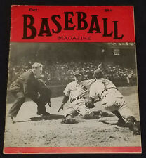 OCT,48 COMPLETE BASEBALL MAGAZINE BABE RUTH FULL PAGE PHOTO - DECEASE AUG 16, 48