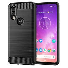 For Motorola One Action Case Carbon Fibre Gel Cover Ultra Slim