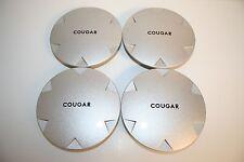 MERCURY COUGAR Part #98BG-1000-FB Factory OEM CENTER CAPS Painted Silver Set -4