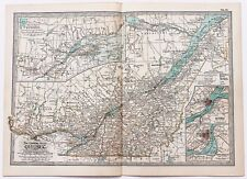 1906 Quebec Canada Map Montreal Montcalm Railroad Routes ORIGINAL