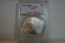 1995-D Olympic Gymnast Commemorative Silver Dollar - MS-69 PCGS
