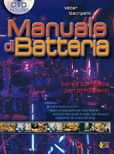 Walter Sacripanti Manuale Metodo di Batteria vol 1 con DVD allegato