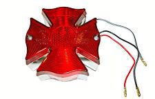 Luz trasera de motocicleta personalizada-Estilo de llama, 12v Stop/cola Diseño Cruz De Malta