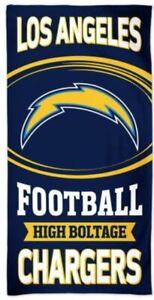 Los Angeles Chargers # 2 30 x 60 Fiber Beach Towel